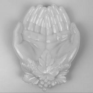 Westmoreland Milk Glass Open Hands Soap Dish